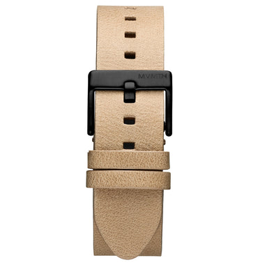 Rise - 20mm Sandstone Leather Black