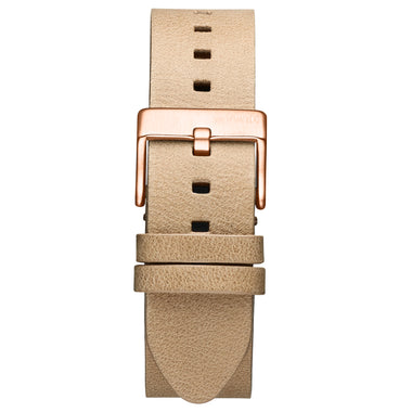 Rise - 20mm Sandstone Leather Rose Gold