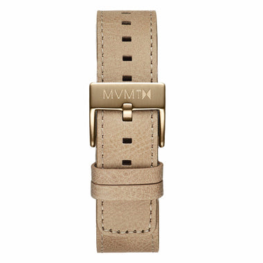 Chrono - 20mm Sandstone Leather Bronze