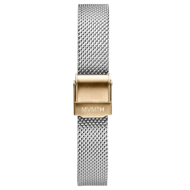 MOD - 12mm Mesh Band silver gold