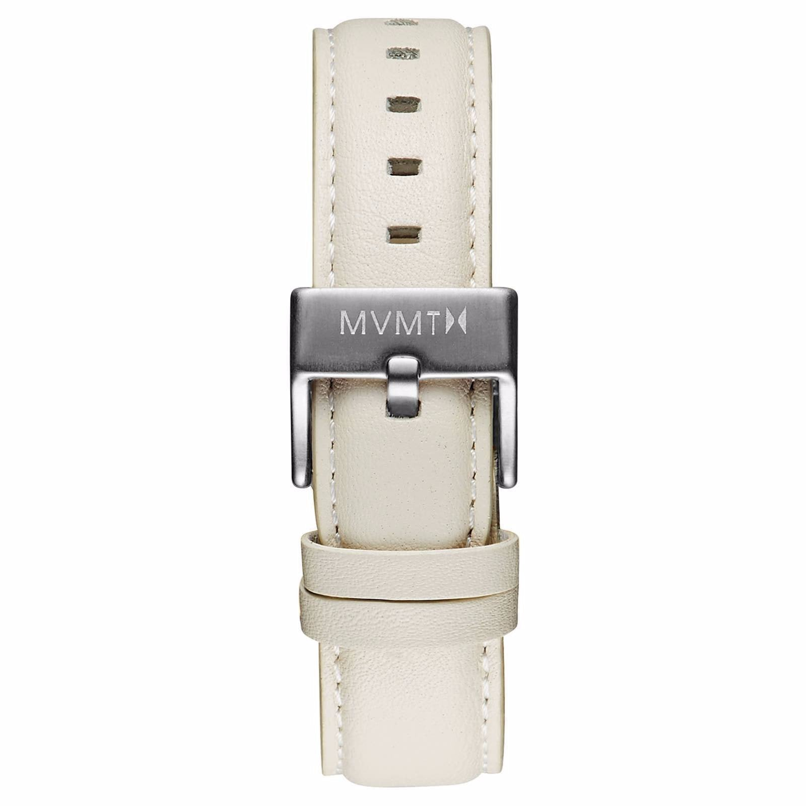 Boulevard - 18mm Cream Leather - silver