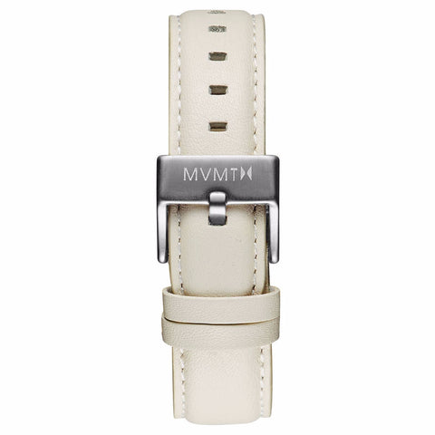 Boulevard - 18mm Cream Leather silver
