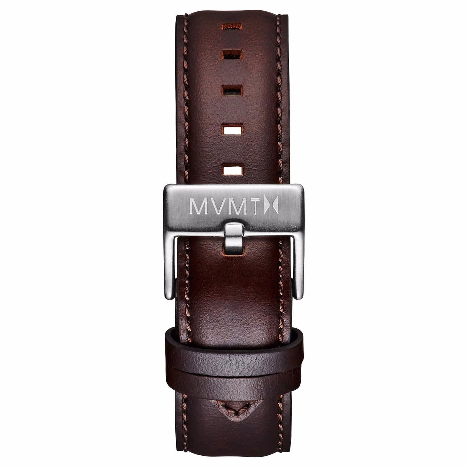 40 Series - 20mm Brown Leather - silver