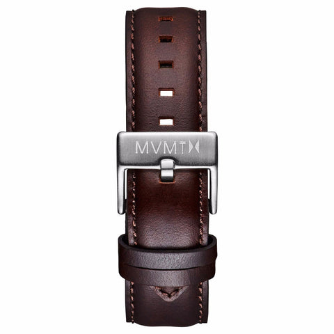 40 Series - 20mm Brown Leather silver