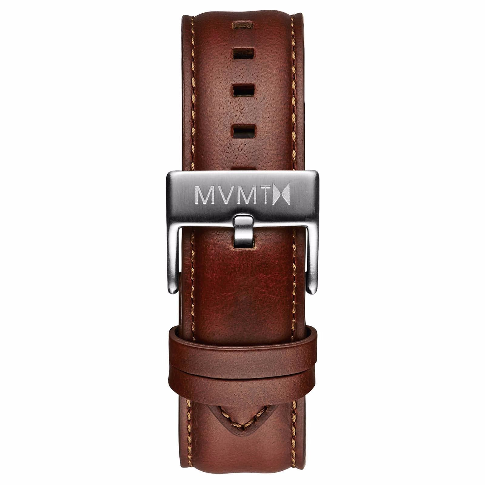 40 Series - 20mm Natural Leather - silver
