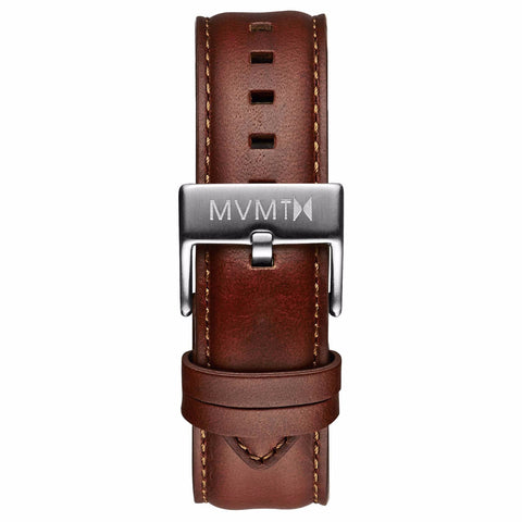 40 Series - 20mm Natural Leather silver