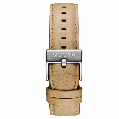 40 Series - 20mm Sandstone Leather silver