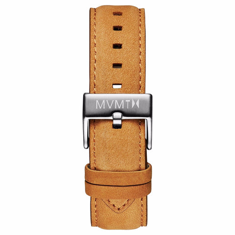 40 Series - 20mm Tan Leather silver