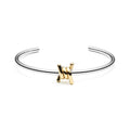 Single Barbed Cuff Silver + Gold