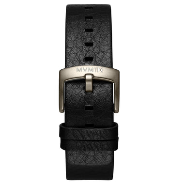 Blacktop - 24mm Black Leather Taupe