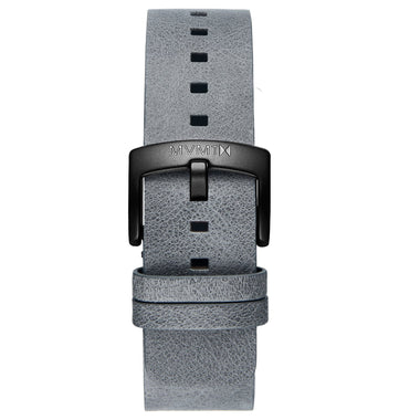 Blacktop - 24mm Grey Leather