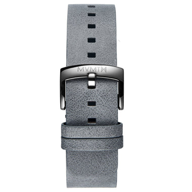 Blacktop - 24mm Grey Leather Silver