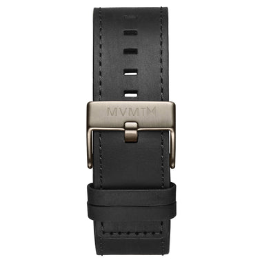 Classic - 24mm Black Leather Taupe