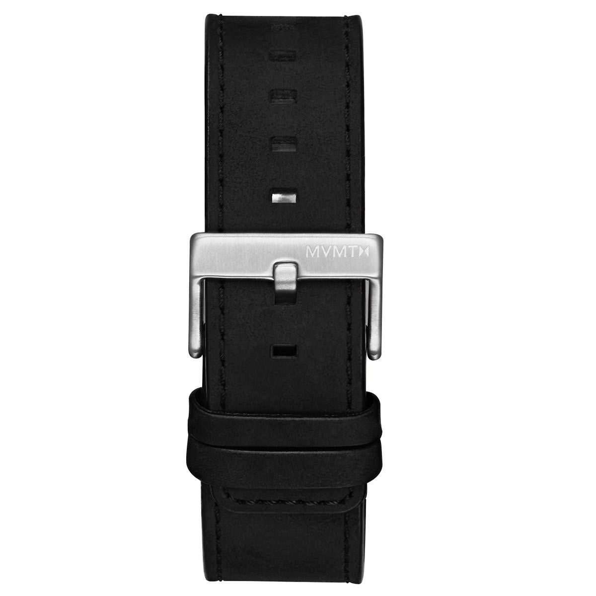 Element - 22mm Black Leather