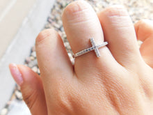 Load image into Gallery viewer, CROSS RING - SILVER