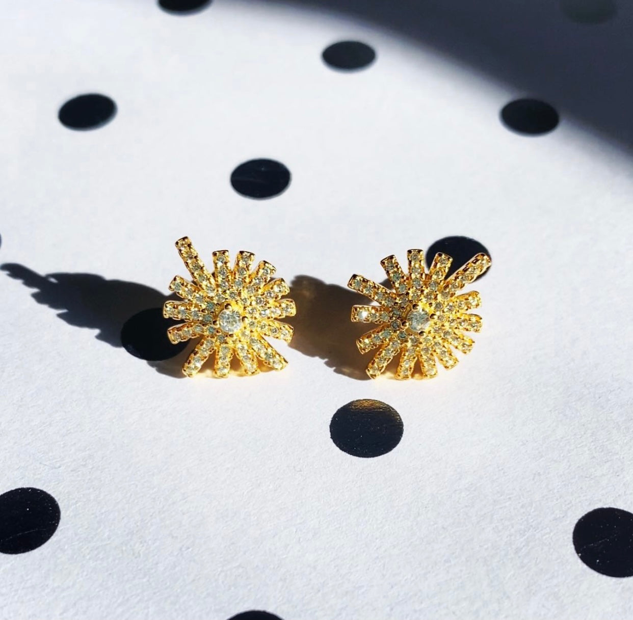 STARBURST STUD EARRINGS - GOLD PLATED