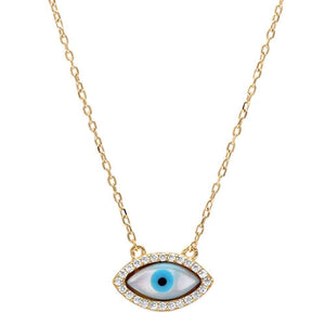 EVIL EYE NECKLACE - GOLD PLATED