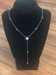 DAZZLED DROP NECKLACE - SILVER