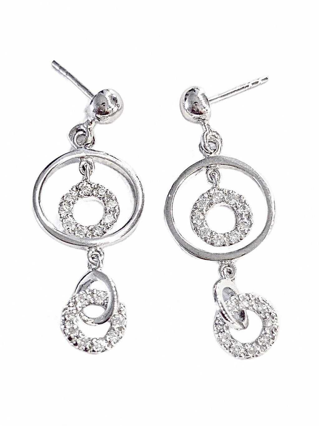 CIRCLE IN CIRCLE EARRINGS - SILVER