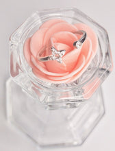 Load image into Gallery viewer, OPEN FLOWER RING - SILVER