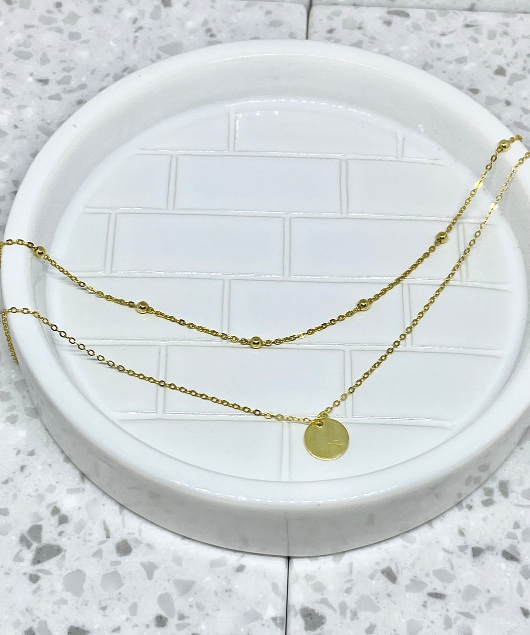COIN LAYERED CHOKER NECKLACE - GOLD PLATED