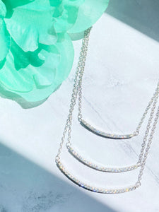 LAYERED BAR NECKLACE - SILVER