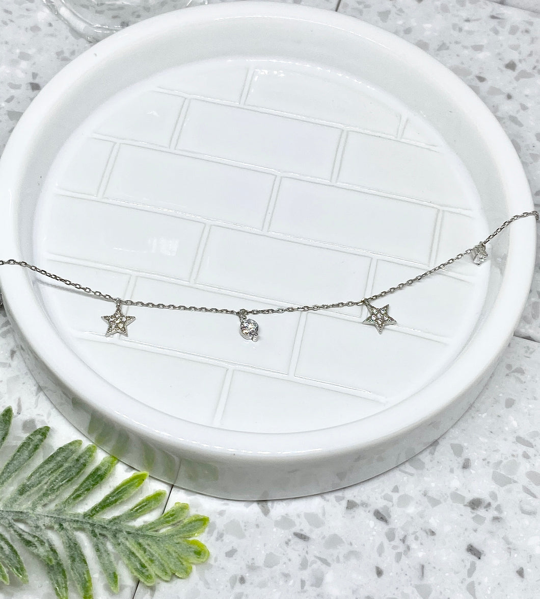 SHINE BRIGHT NECKLACE - SILVER