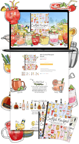 Cocktail Recipes Ebook Shopify Store & Ecommerce Business For Sale