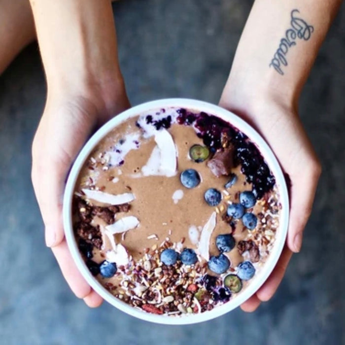 Chai + Cookie Dough Smoothie Bowl, by Kath & Jade @panaceas_pantry