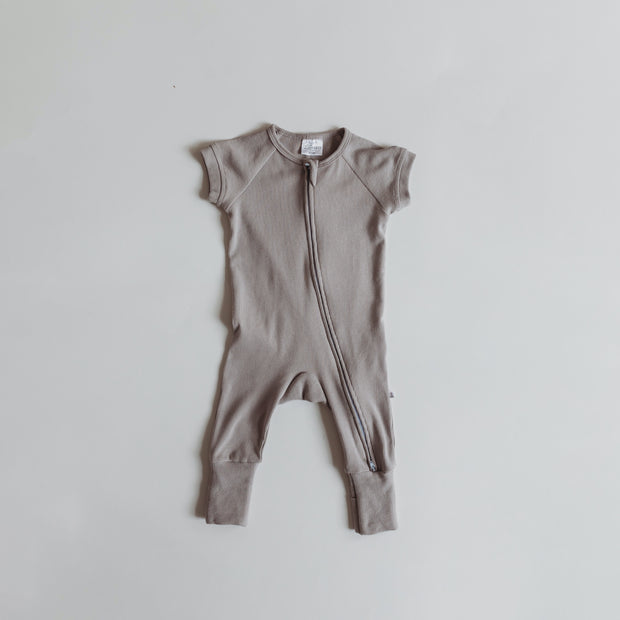 Short Sleeve Romper in Cloud