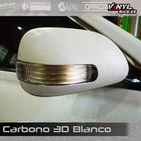 Carbono 3D Blanco-Body Shop-VinylRace.es