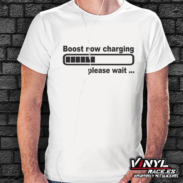 Camiseta Boost Now Charging-Moda Racing-VinylRace.es