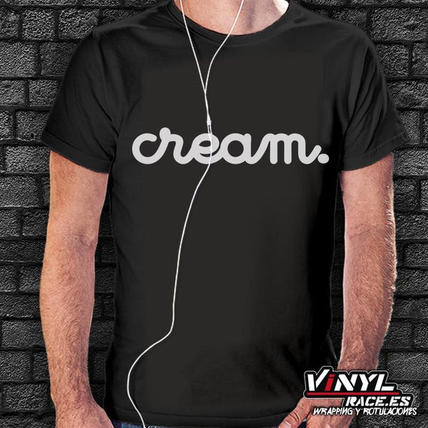 Camiseta Cream-Moda Racing-VinylRace.es