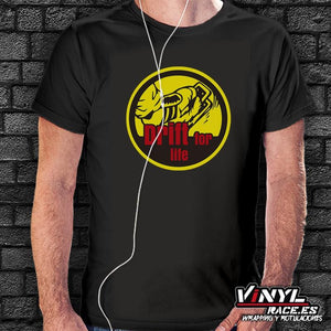 Camiseta Drift for life-Moda Racing-VinylRace.es