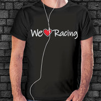 Camiseta We Love Racing Logo Largo-Moda Racing-VinylRace.es