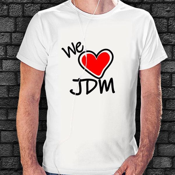 Camiseta We Love JDM-Moda Racing-VinylRace.es
