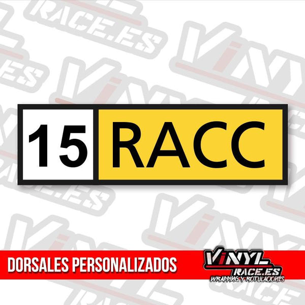 Dorsal RACC Rectangular x 2 Uds-Body Shop-VinylRace.es