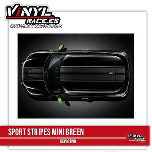 Sport Stripes MINI Green - Vinyl Race
