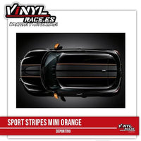 Sport Stripes MINI Orange - Vinyl Race