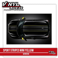 Sport Stripes MINI Yellow - Vinyl Race