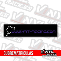 Cubre Matrículas KRT Racing-Body Shop-VinylRace.es
