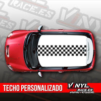 Kit Techo Franja Bandera Cuadros-Body Shop-VinylRace.es
