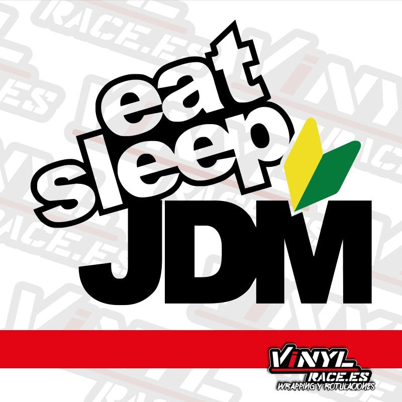 Pegatina Eat Sleep JDM-Stickers / Pegatinas-VinylRace.es