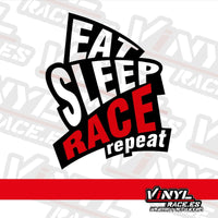 Pegatina Eat Sleep Race Repeat-Stickers / Pegatinas-VinylRace.es