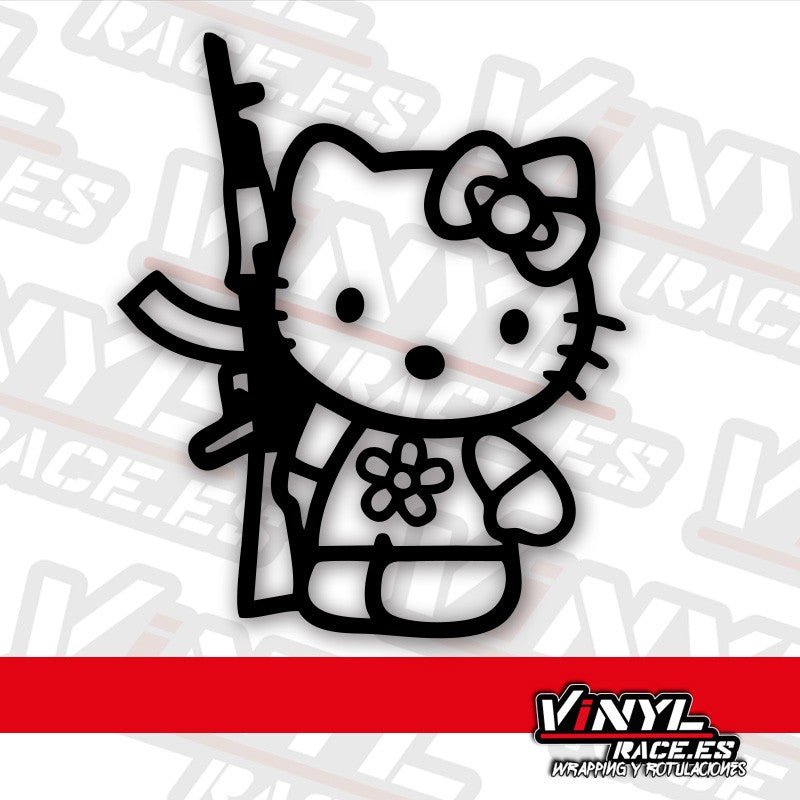 Pegatina Hello Kitty Soldado