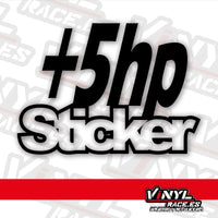 Pegatina +5 Hp Sticker  (VinylRace)