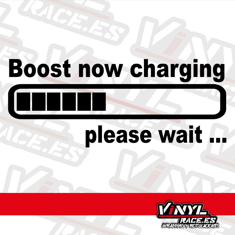 Pegatina Boost now charging