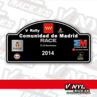 Pegatina Rally Madrid 2014-Stickers / Pegatinas-VinylRace.es