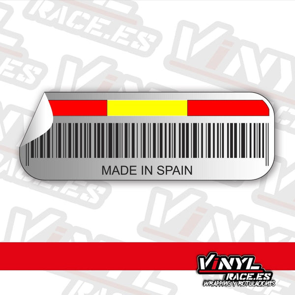 Pegatina Made in Spain-Stickers / Pegatinas-VinylRace.es
