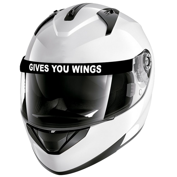 Visera Casco Gives You Wings-VinylRace.es